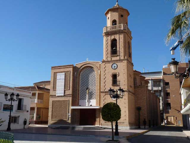 Church at Pilar de la Horadada Long Term Property Rentals and Long Term Property Lets Pinar de Campoverde Costa Blanca in Spain